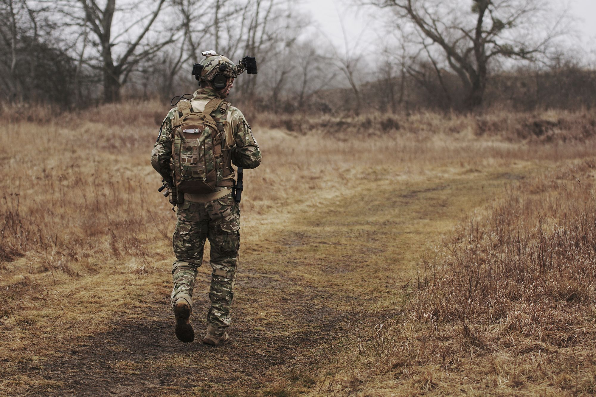 A U.S. Army solider on a patrol
