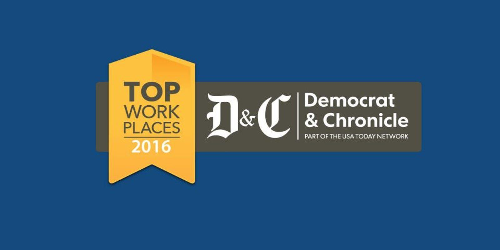 D & C Top Workplaces of 2016 award