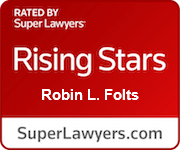 Robin Folts Super Lawyer Rising Stars Badge